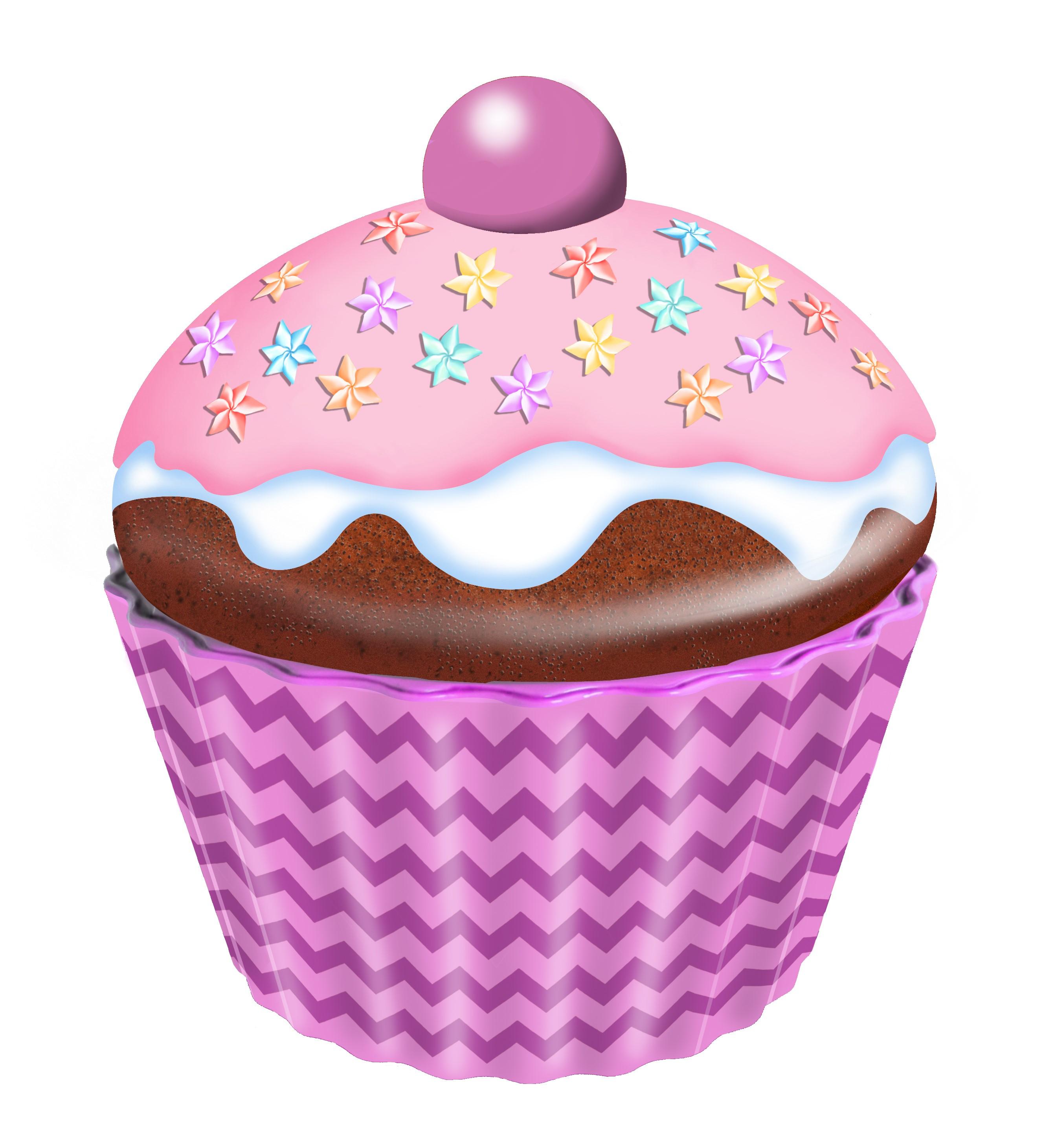 10203 Cupcake groß Blumen