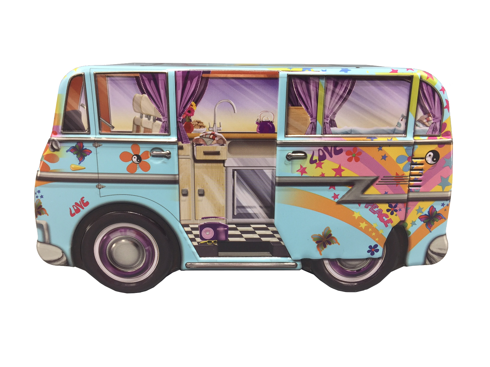 10071 Mini Camper Van Hippy
