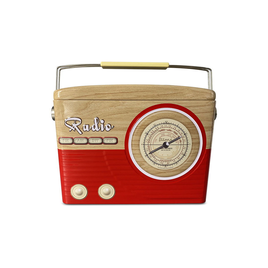 10401 Radio tailliert rot/braun